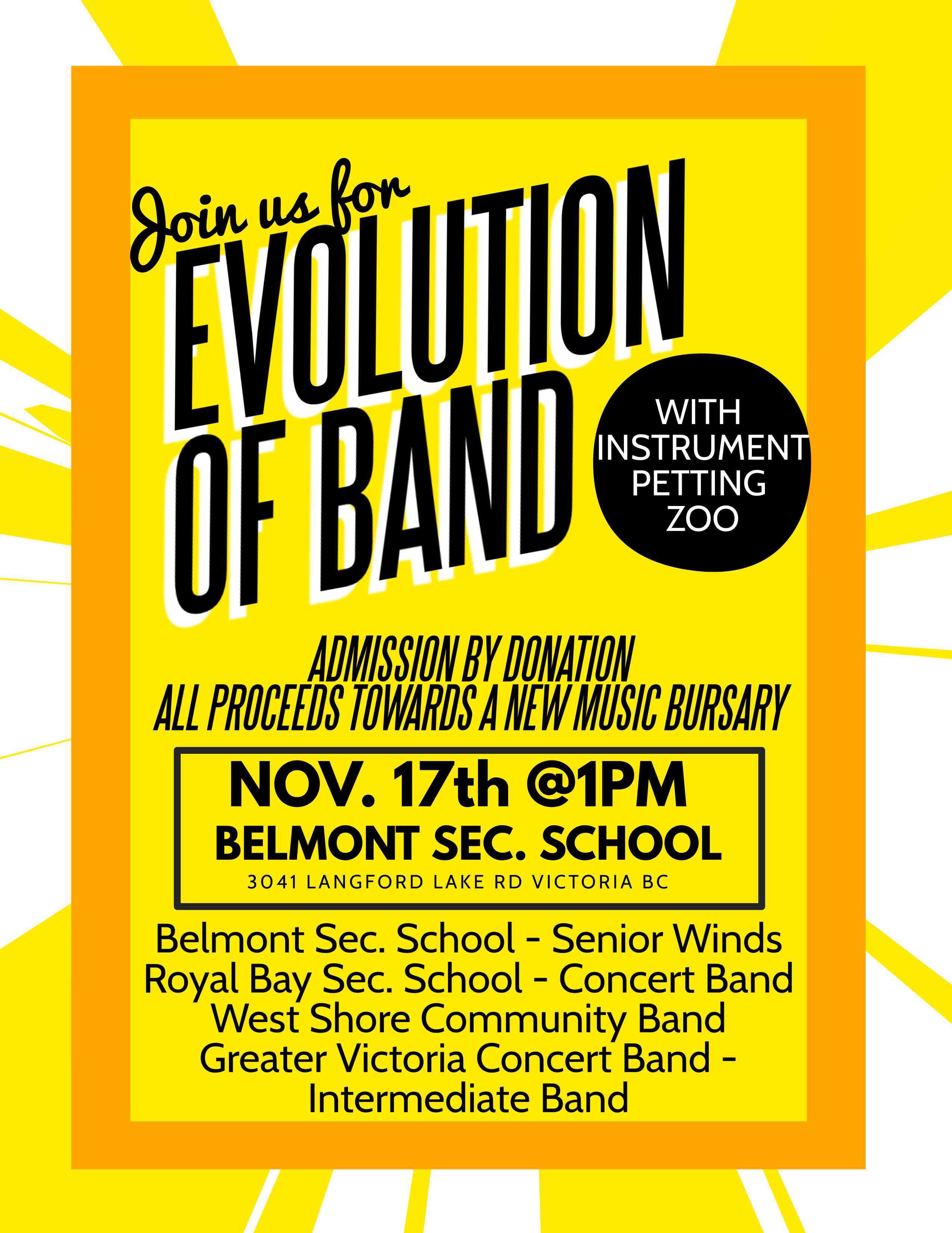 Evolution of Band 2018 Poster