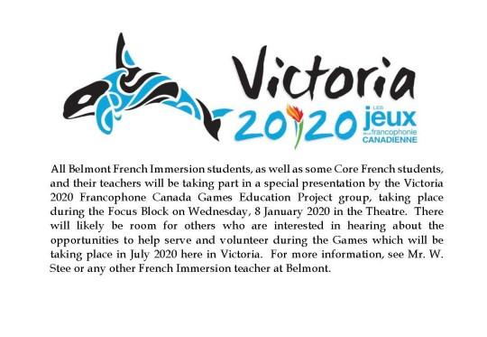 2020 Francophone Games