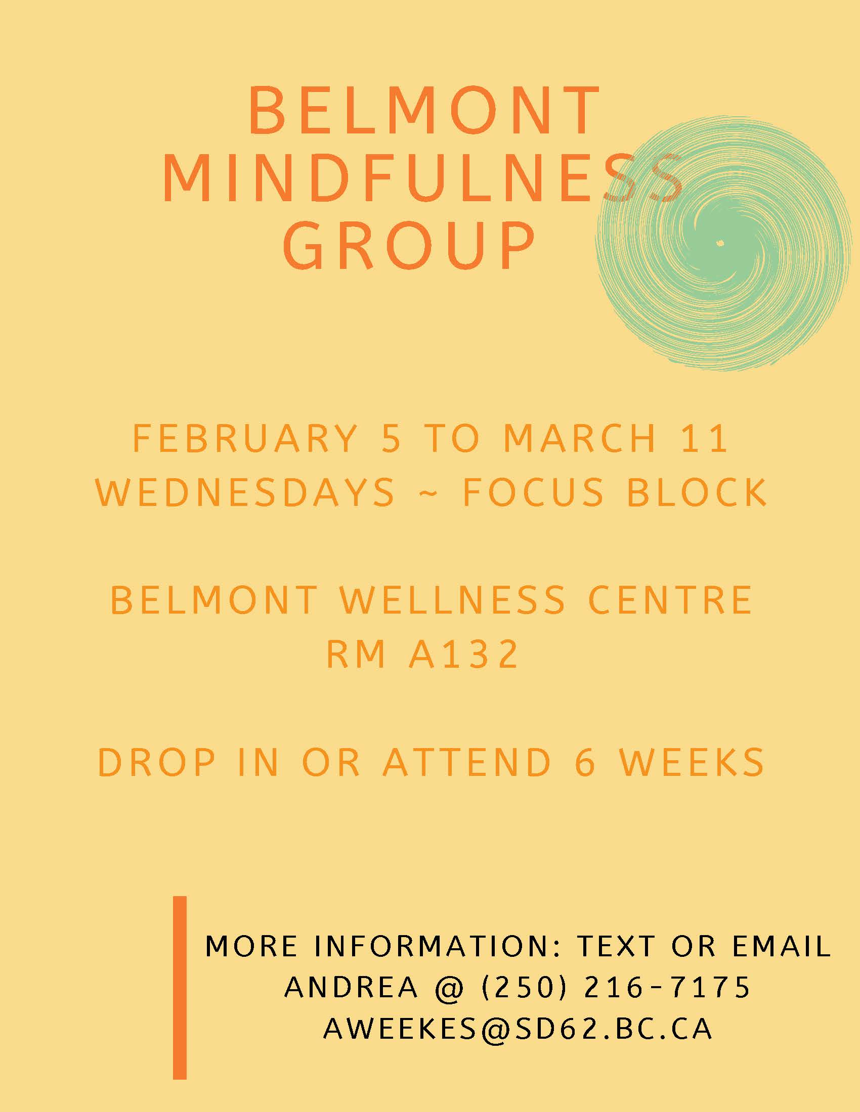 Belmont Mindfulness Group Feb 5- March 11