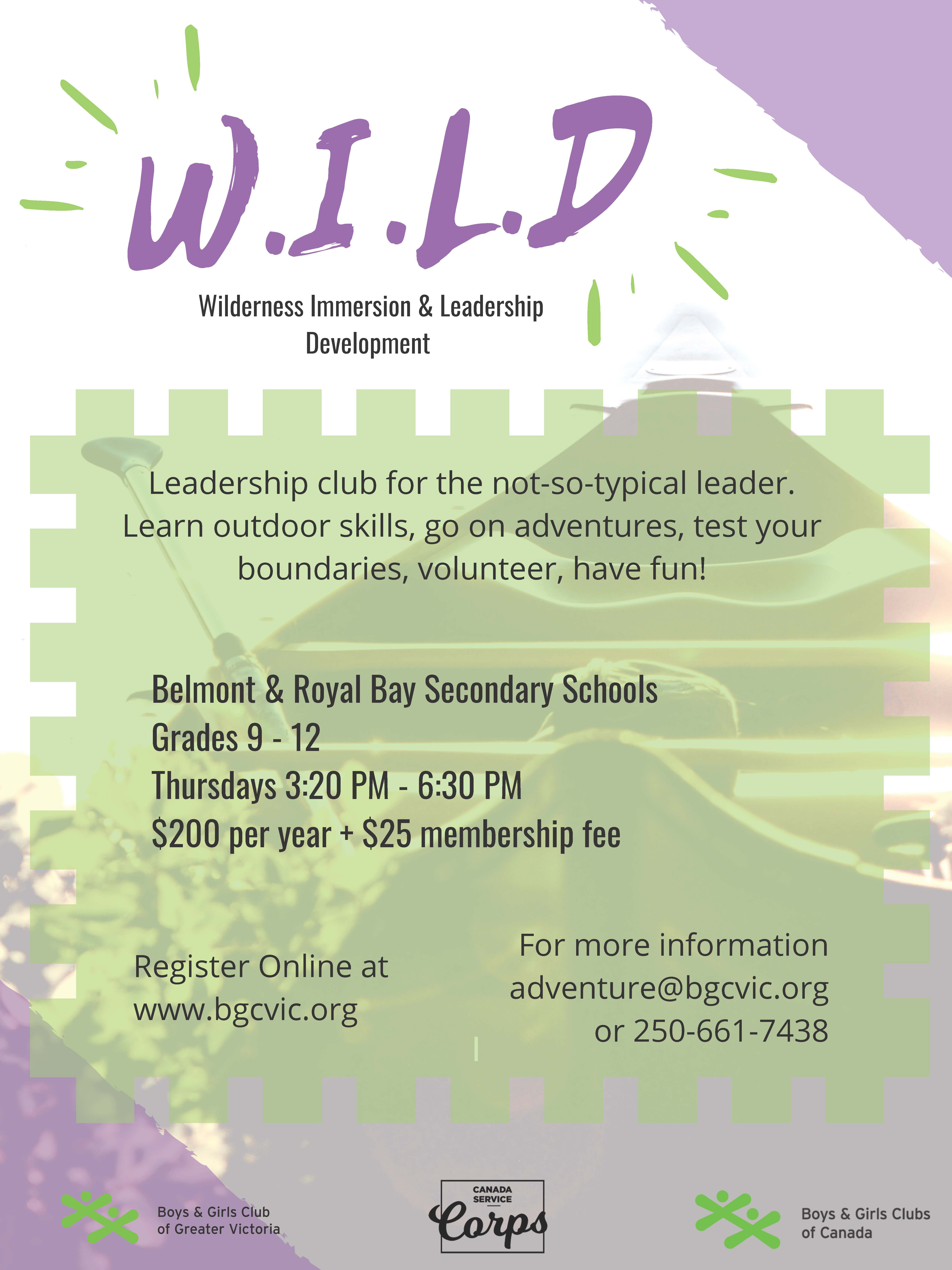 Boys Girls Club WILD Program - Belmont and Royal Bay
