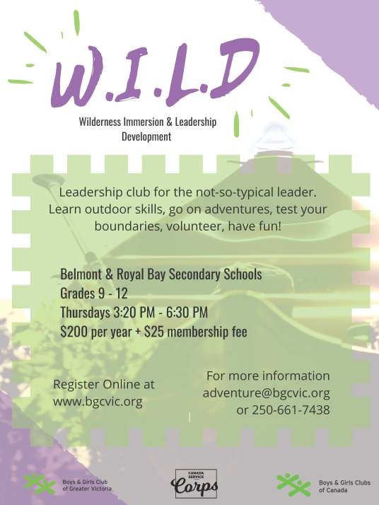 Boys Girls Club WILD Program - Belmont and Royal Bay