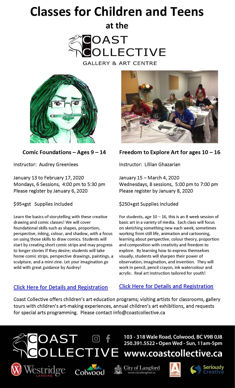 Coast Collective Art Centre Classes - Ages 9 - 16